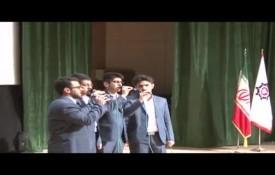 اجرای برنامه تواشیح توسط گروه مصباح الهدی در جشن میلاد حضرت قمر بنی هاشم(ع)
