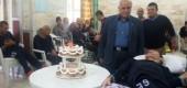 جشن تولد آقای مهرداد امینی مددجوی مرکز توانبخشی شهید آیت اله صدوقی